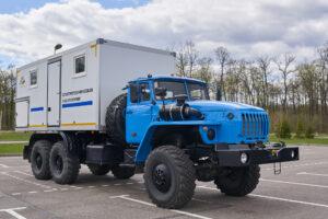Цифровая передвижная ЭТЛ фургон на шасси УРАЛ